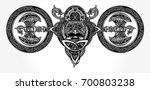 viking tattoo and t shirt... | Shutterstock .eps vector #700803238