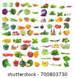 vegetable isolated on white... | Shutterstock . vector #700803730