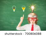 portrait of child in classroom. ... | Shutterstock . vector #700806088