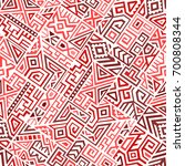 creative ethnic style square... | Shutterstock .eps vector #700808344