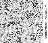 creative ethnic style square... | Shutterstock .eps vector #700808374