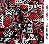creative ethnic style square... | Shutterstock .eps vector #700808380