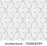 white abstract hexagonal... | Shutterstock . vector #700808599