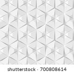 white abstract hexagonal... | Shutterstock . vector #700808614