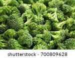 many fresh green broccoli... | Shutterstock . vector #700809628