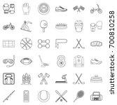 sport equipment icons set.... | Shutterstock .eps vector #700810258