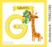 letter g uppercase cute... | Shutterstock .eps vector #700811386