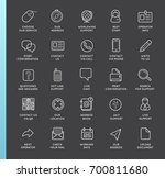 set of contact us service... | Shutterstock . vector #700811680