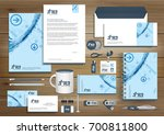 digital tech corporate identity ... | Shutterstock .eps vector #700811800