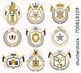 set of retro vintage insignias...   Shutterstock . vector #700818109