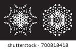 ethnic fractal mandala raster... | Shutterstock . vector #700818418
