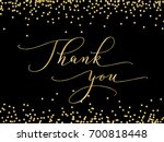 thank you words  hand written... | Shutterstock .eps vector #700818448