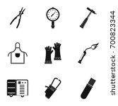 welder profession icon set.... | Shutterstock .eps vector #700823344