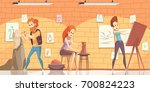 art professions background with ... | Shutterstock .eps vector #700824223
