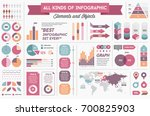 infographics elements and...   Shutterstock . vector #700825903