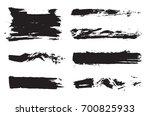 set of raster black pen ink... | Shutterstock . vector #700825933