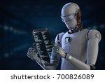 3d rendering humanoid robot... | Shutterstock . vector #700826089