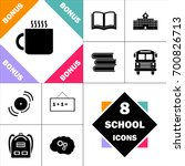 hot cup icon and set perfect... | Shutterstock .eps vector #700826713