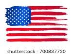 grunge american flag.... | Shutterstock .eps vector #700837720
