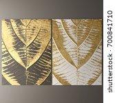 3d wall art  picture of gold... | Shutterstock . vector #700841710
