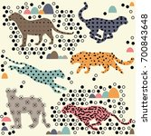 leopard | Shutterstock .eps vector #700843648