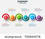 presentation business 3d... | Shutterstock .eps vector #700844578