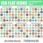 flat web development  seo ... | Shutterstock .eps vector #700844638