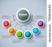 presentation business 3d... | Shutterstock .eps vector #700844650
