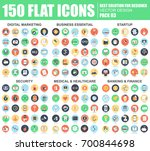 flat digital marketing ... | Shutterstock .eps vector #700844698
