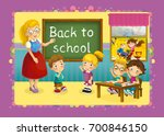 scene of cartoon school  ... | Shutterstock . vector #700846150