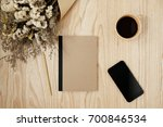 notebook and smart phone with... | Shutterstock . vector #700846534