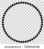circle frame from black dots ... | Shutterstock .eps vector #700846948