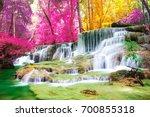 beautiful waterfall in... | Shutterstock . vector #700855318