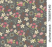 seamless pattern with cute... | Shutterstock .eps vector #700859140