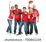 fans  fans cheer for favorite... | Shutterstock . vector #700861234