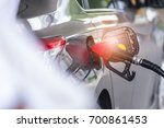 car fuels concept  oil station... | Shutterstock . vector #700861453