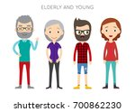diverse raster people set. men... | Shutterstock . vector #700862230