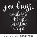 raster hand drawn script... | Shutterstock . vector #700862254