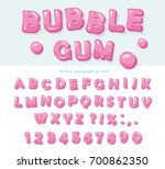 bubble gum font design. sweet... | Shutterstock .eps vector #700862350