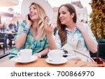 coffee break after shopping.... | Shutterstock . vector #700866970