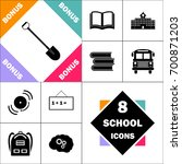 shovel icon and set perfect... | Shutterstock .eps vector #700871203
