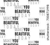 professional makeup artist... | Shutterstock .eps vector #700871998