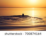 Man's Silhouette In Calm Water...