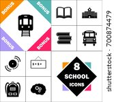 train icon and set perfect back ... | Shutterstock .eps vector #700874479