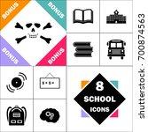 skull crossbones icon and set... | Shutterstock .eps vector #700874563