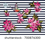 embroidery colorful floral... | Shutterstock .eps vector #700876300