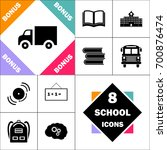 truck icon and set perfect back ... | Shutterstock .eps vector #700876474