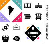 south america icon and set... | Shutterstock .eps vector #700876519