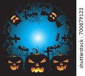 halloween background vector... | Shutterstock .eps vector #700879123