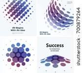 mega set of abstract vector... | Shutterstock .eps vector #700879264